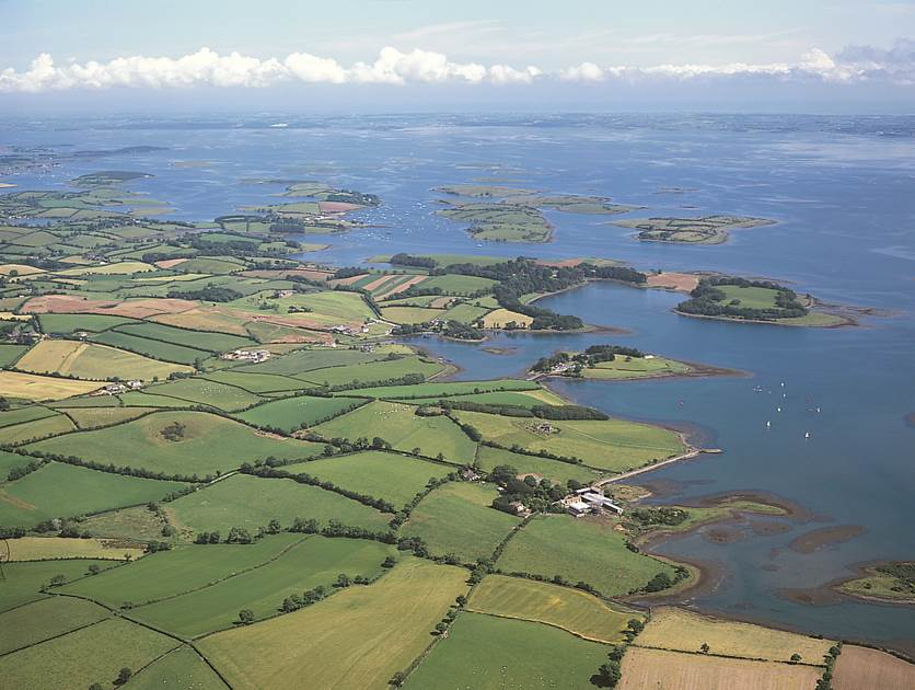 Strangford Lough aerial photo