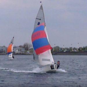 Windy sailing at Southport