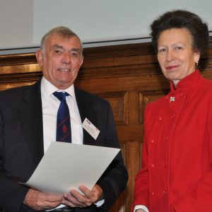 Tim Davies receives his RYA Lifetime Commitment Award from HRH The Princess Royal