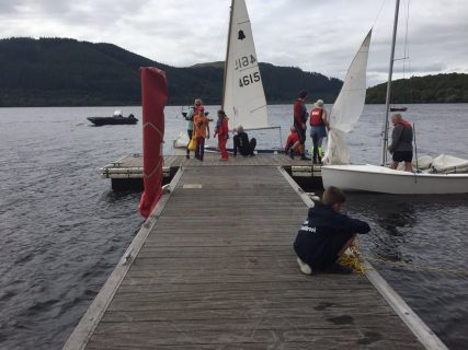Reefing on the Jetty at Bassenthwaite